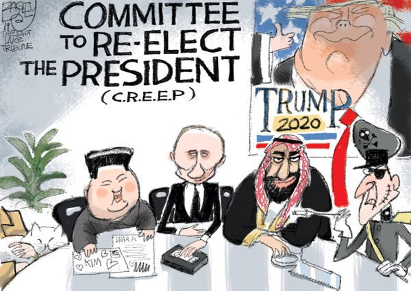 @TeaPainUSA Without the shadow of any doubt, yes! It's far better to accept this sad truth & be prepared for what's to come! Fair & free elections? Laughable, in fact it's naive to think that the #GOP-#MAGAKKKult & Trump's tyrant pals won't do anything to help him get reelected!