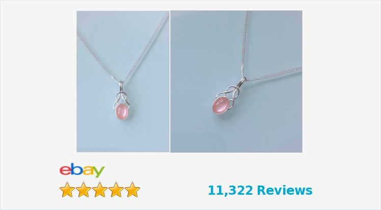 Brand New 925 Sterling Silver Small Fancy Pink Mother of Pearl Celtic Necklace | eBay #sterlingsilver #pink #motherofpearl #celtic #fancy #necklace #pendant #handmade #jewellery #gifts #giftideas #giftsforher #giftshop #jewelry #gemstones #accessories