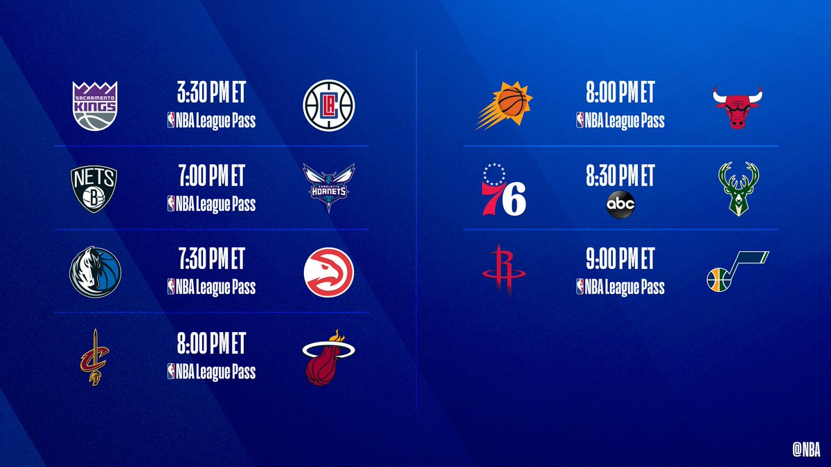 🚨 7-Game Saturday Slate 🚨  ▪️ Giannis looks to continue historic season against streaking 76ers ▪️ Heat to retire Dwyane Wade's jersey  ▪️ Trae Young coming off career-high 50 PTS  📺: ABC 📲💻: NBA League Pass ➡️: