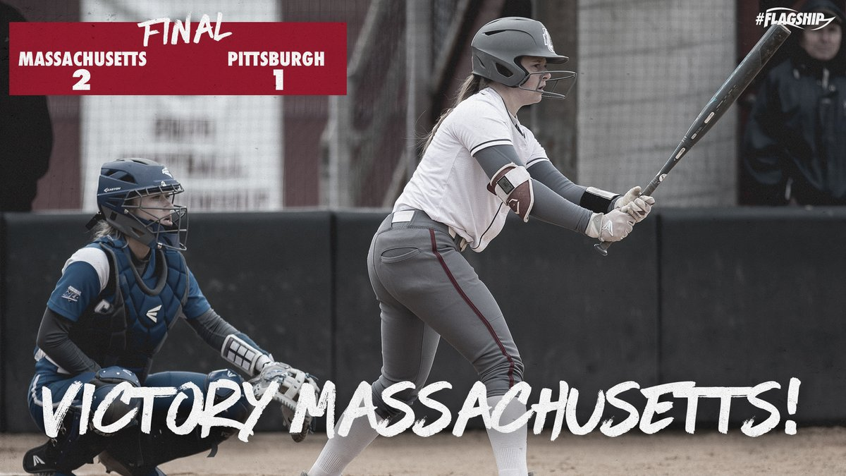 𝕎𝕚𝕟𝕟𝕖𝕣, 𝕎𝕚𝕟𝕟𝕖𝕣  Amy's 2-out, 2 RBI double in the 7th lifts the Minutewomen over Pittsburgh!   Kiara went the distance in the circle, striking out 7 while allowing just 3 hits!  #Flagship  <br>http://pic.twitter.com/xVXvQQZtIH