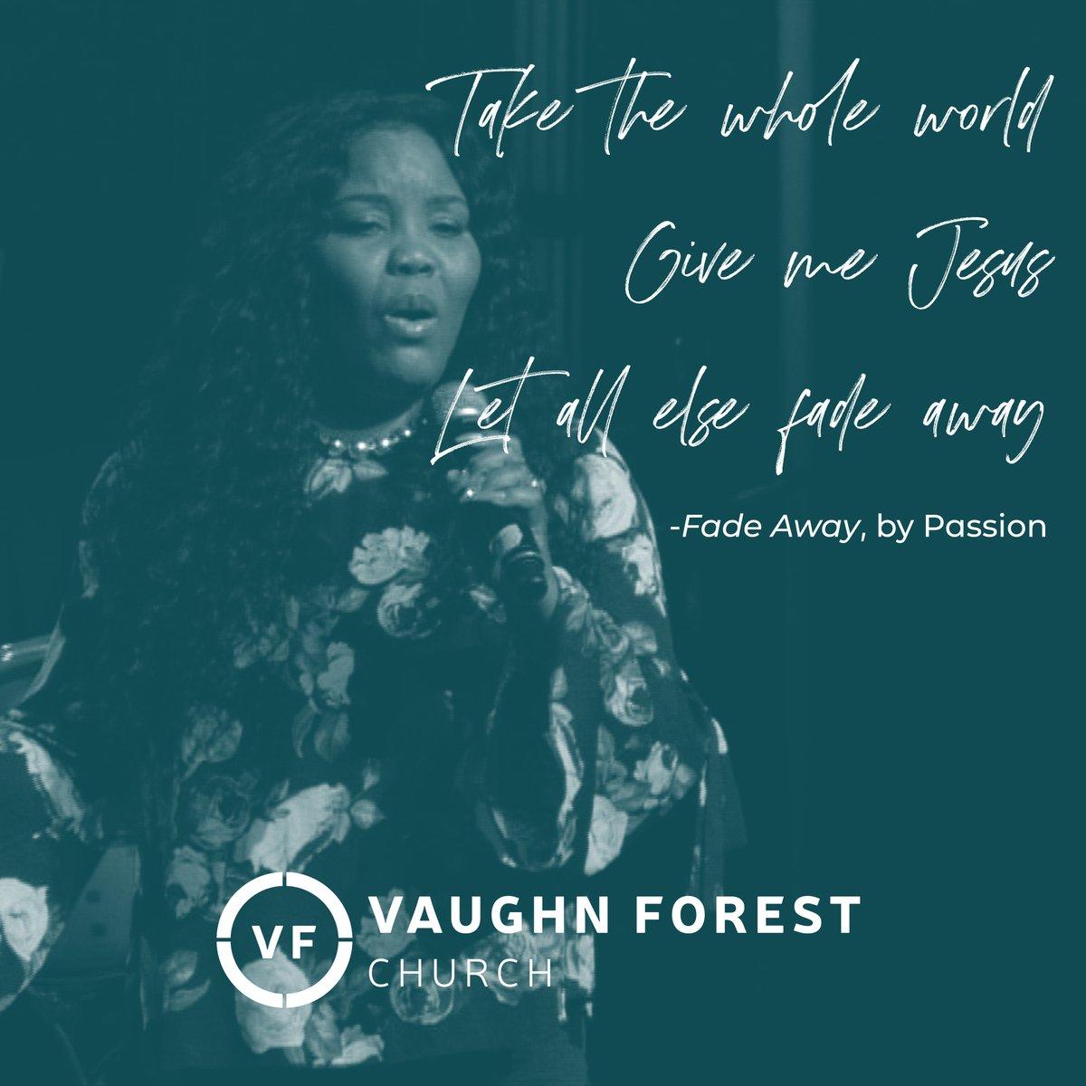 Give me Jesus! #VaughnForestChurch #FinancialFreedom pic.twitter.com/SIcgOsAN6J
