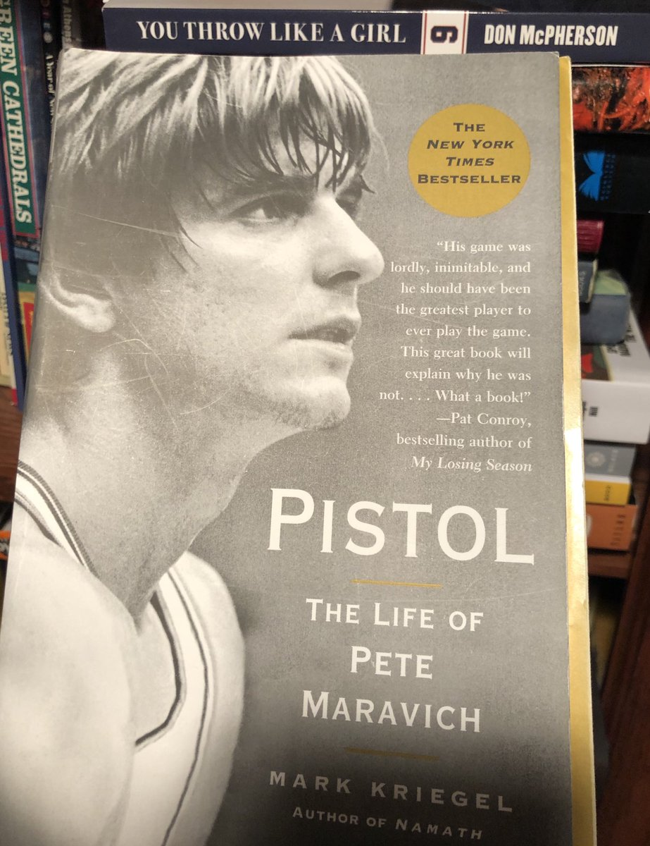 I just finished this - easily one of best books I've ever read - incredible writing on a sad story - I loved Maravich when I was a kid .. well done ⁦@MarkKriegel⁩ #pistolpete #maravich #books #biography #nonfiction