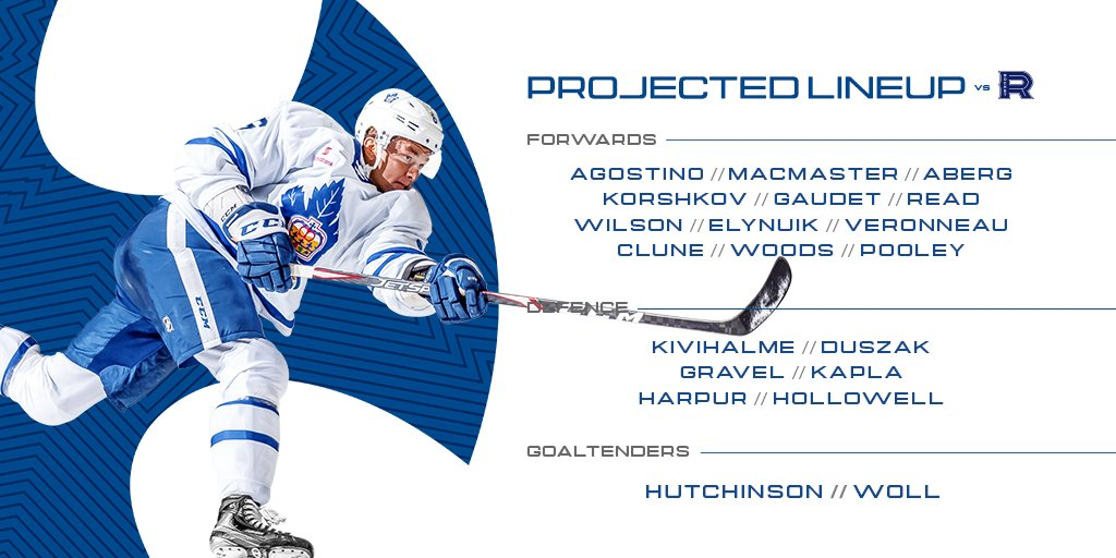 A look at today's Marlies lines 👇 #MarliesLive