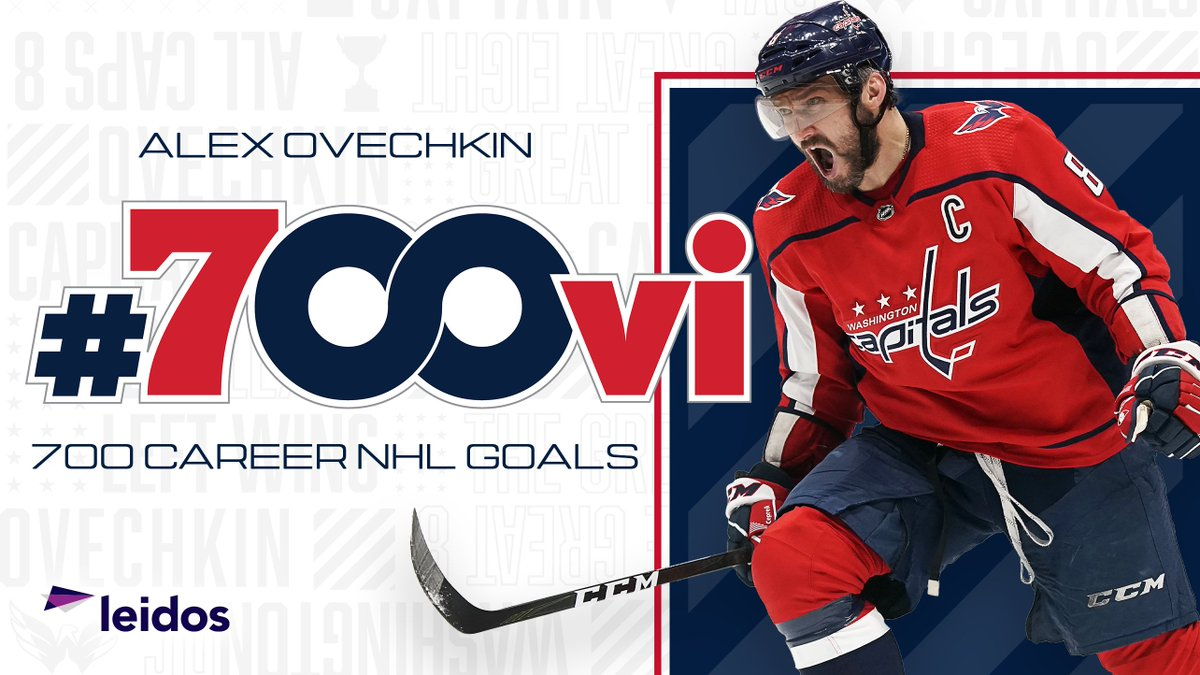 LADIES AND GENTLEMEN, @ovi8 HAS JOINED THE 700 GOAL CLUB! #700VI