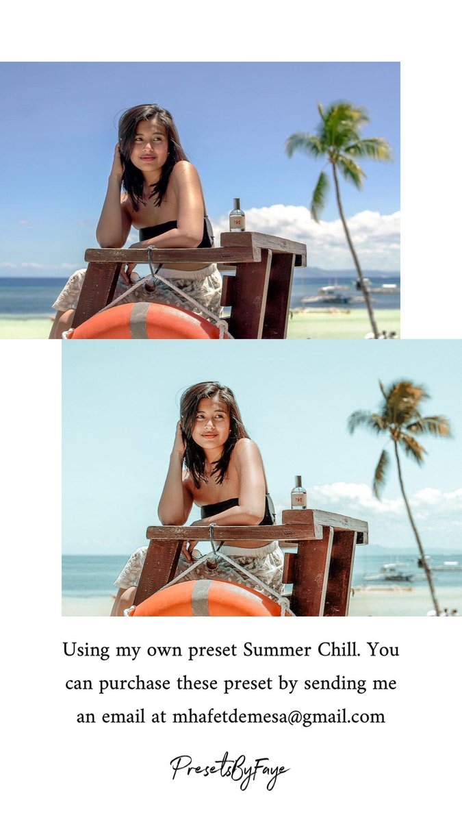 LIGHTROOM PRESET Preset: #SummerChill : #GabbiGarcia  WEBSITE SHOP: http://presetsbyfaye.myshopify.com  You can purchase these preset by sending me an email at mhafetdemesa@gmail.com    #lightroom #lightroompresets #lightroommobile #lightroomfilters #instagramtheme #presets #presetsbyfayepic.twitter.com/UJDXkIDHsC