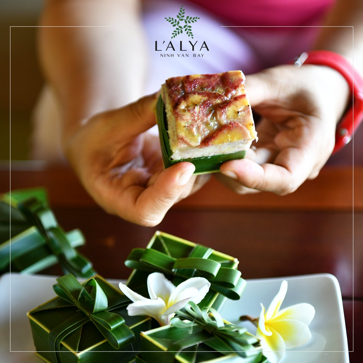 Taste our local scrumptious banana cakes, delicious Vietnamese desserts from our pastry chefs. #Vietnam #nhatrang #ecotourism #luxury #lifestyle #beach #peaceful #sunshine #tropical #travel