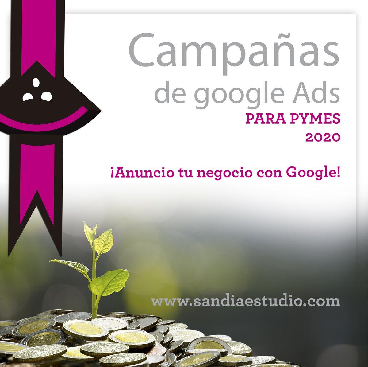 Creamos campañas integrales para tu empresa. Haremos que estés en los primeros lugares del buscador a través de inversión en publicidad de Google. #GoogleAds #Ads #GoogleAdwords #Succes #Éxito https://t.co/MoATkbH6IL