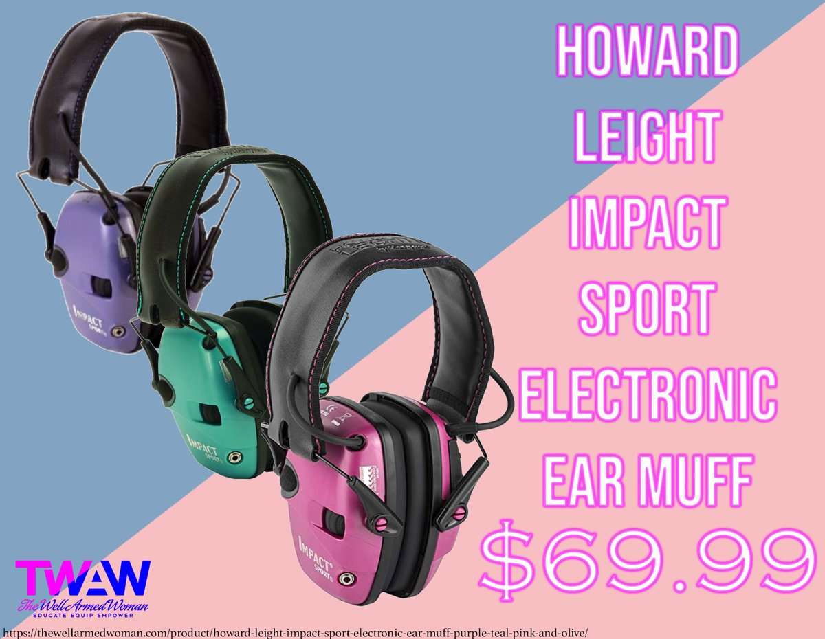 Perfect ear protection for the range! Get yours today!   #howardleight #earprotection #rangegear #womenandguns    https:// soo.nr/51yu      <br>http://pic.twitter.com/Y1iMjMtovH