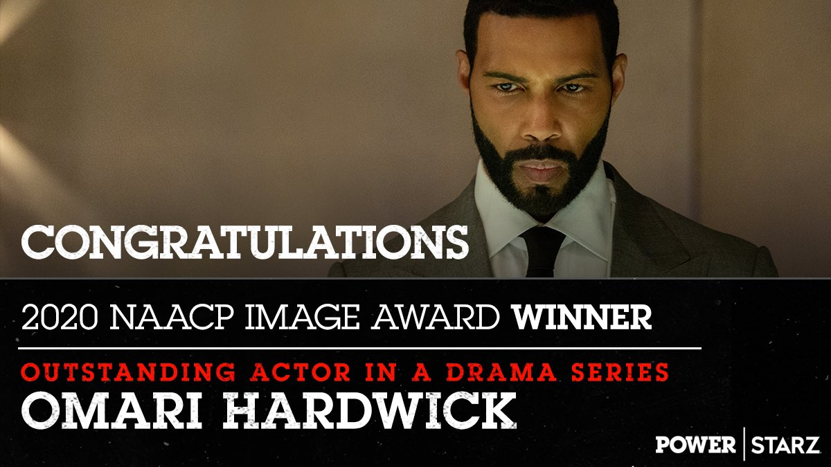 A well deserved win 🙌🏽 Congratulations @OmariHardwick for receiving the NAACP Image Award for Outstanding Actor in a Drama Series!
