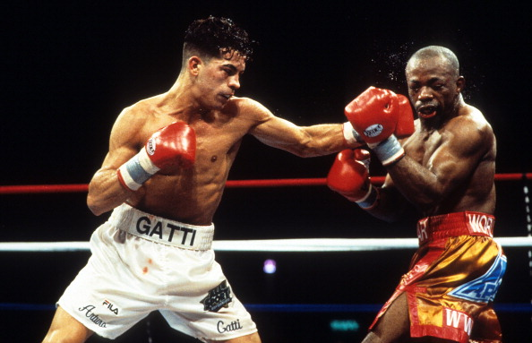OTD 1997 - Arturo Gatti W 12 Tracy Harris Patterson at Convention Center, Atlantic City. Retains IBF Junior Lightweight Title. Gattis 2nd defense. ringsideseatmag.com