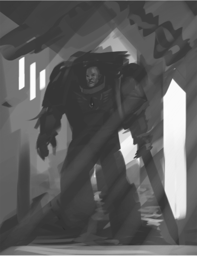 A quick 10-minute mock-up of some 40k fan art. No hard perspective yet but loving it so far. Will post updates!  #conceptart #art #illustration  #sketch #painting #Digital #artist #drawing #canvas #love #style #digitalart #warhammer #wargaming #spacemaring #bloodangels #war #funpic.twitter.com/FJWL6xqJ3s