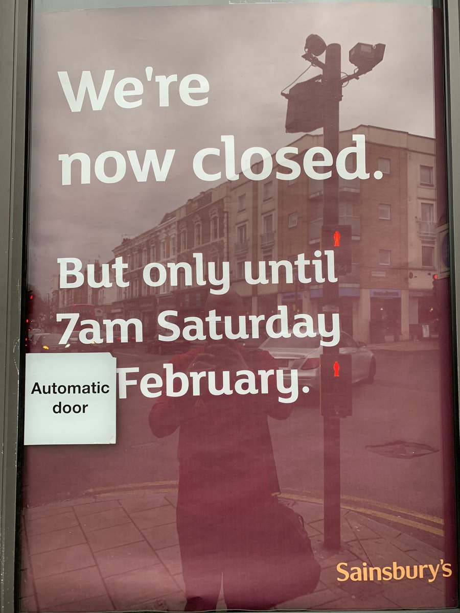 Am quietly wondering to myself @sainsburys when the Automatic Door of February is? 🤣🤣🤣