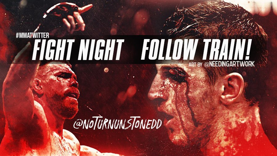 #UFCAuckland FIGHT NIGHT FOLLOW TRAIN!!🔥💯   1. RETWEET & LIKE this Post. 2. Follow all MMA fans that RT/Like. 3. Drop your fight predictions in the thread. 4. Watch your following grow & connect with new fans!👊🏻  #MMATwitter #FightNightFollowTrain🚆 Art by: @needingartwork https://t.co/ETaT0qBpKu
