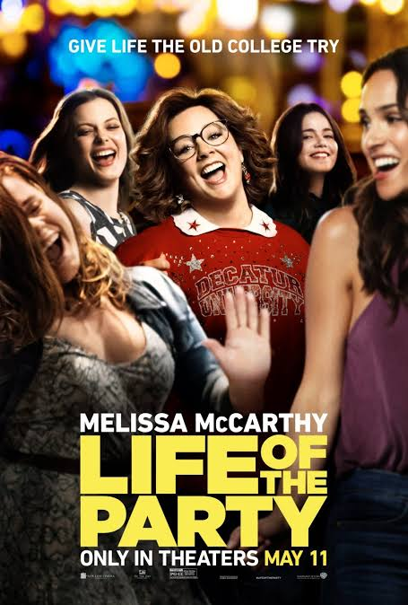 After her husband abruptly asks for a divorce, a middle-aged mother returns to college in order to complete her degree.  #LifeOfTheParty (2018) by #BenFalcone, feat. @melissamccarthy @mollyjgordon and @MayaRudolph, now streaming on @NetflixIndia.   @warnerbros @wbpicturespic.twitter.com/QpMUspTTvF