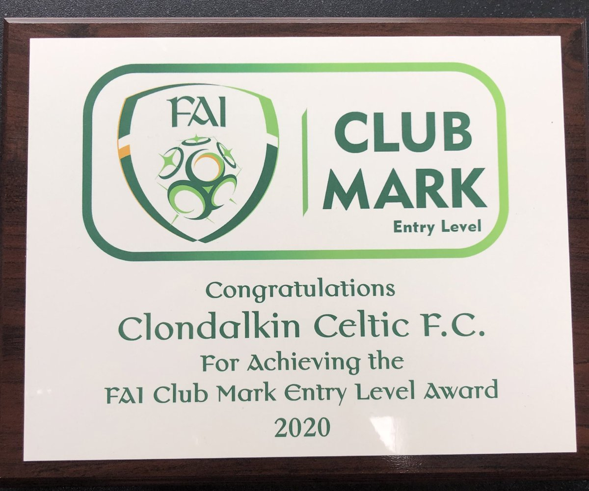 Another milestone for @clondalkincelt as we become only the 28th Club in the country to achieve #fai clubmark status 🍀 Thanks to all the hard work of every coach & volunteer in the club, you earned this 👏🏼💚🍀@FAIreland @Sparky1gk @SthDubSports @SDCSP1