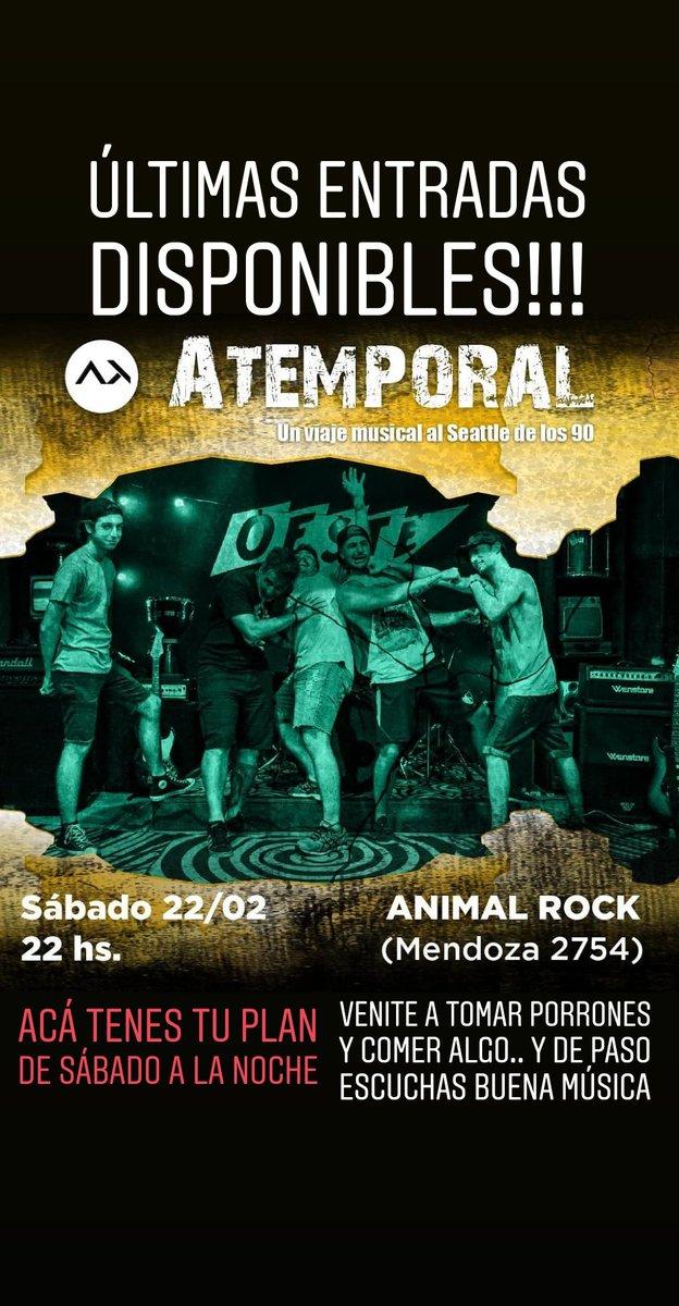 HOY 21:00HS. LOS ESPERAMOS (ENTRADAS EN PUERTA)