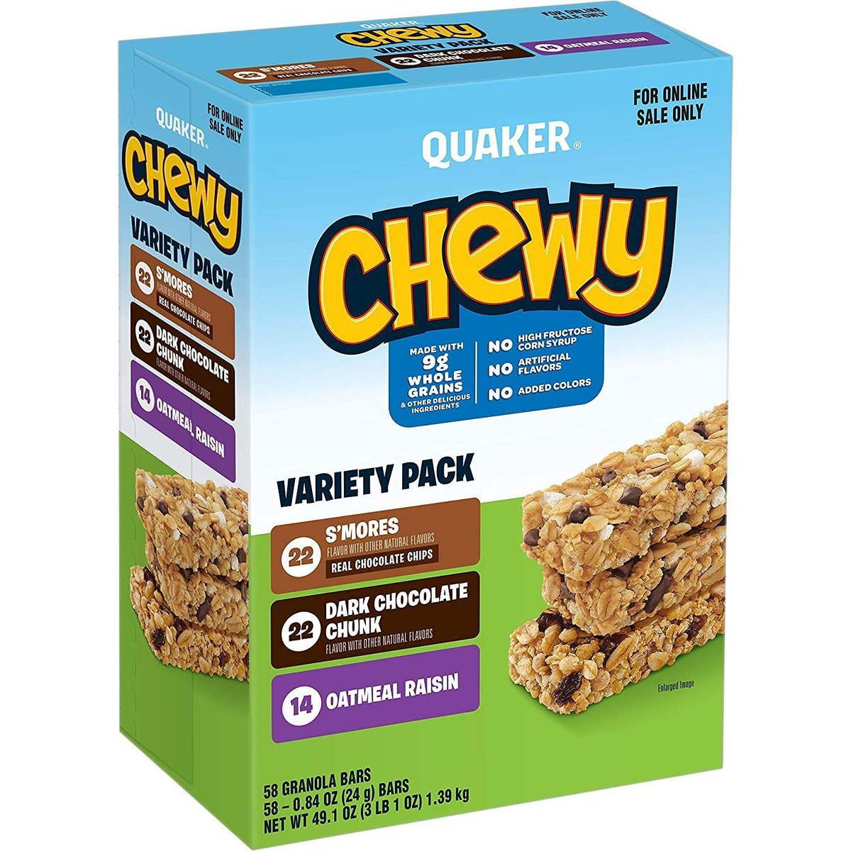 Over 3 pounds of Chewy Bars, as low as $6.32! amzn.to/2HGH5GH