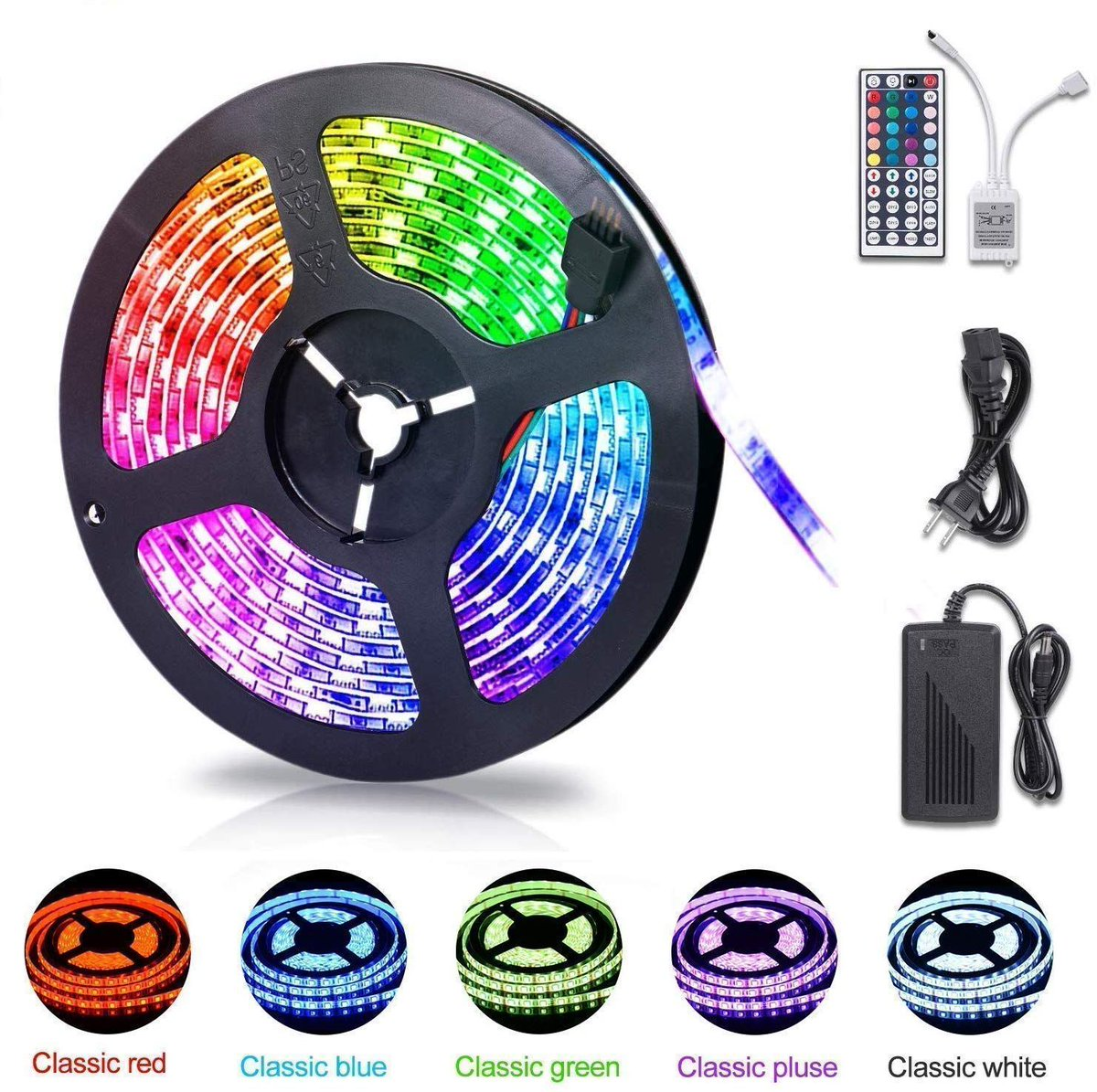 STEAL!! 16.4ft LED Strip Light for $12.59!! Coupon PLUS promo code; 30T1ZHX8 amzn.to/2vRtyJC