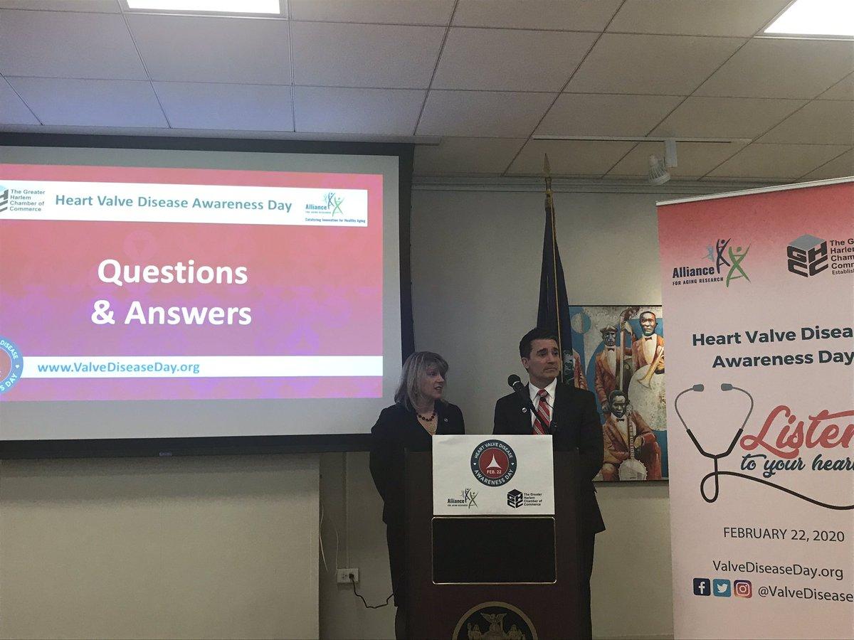 .@SuePeschin & @drjohnwhyte answer questions about heart valve disease. #ValveDiseaseDay