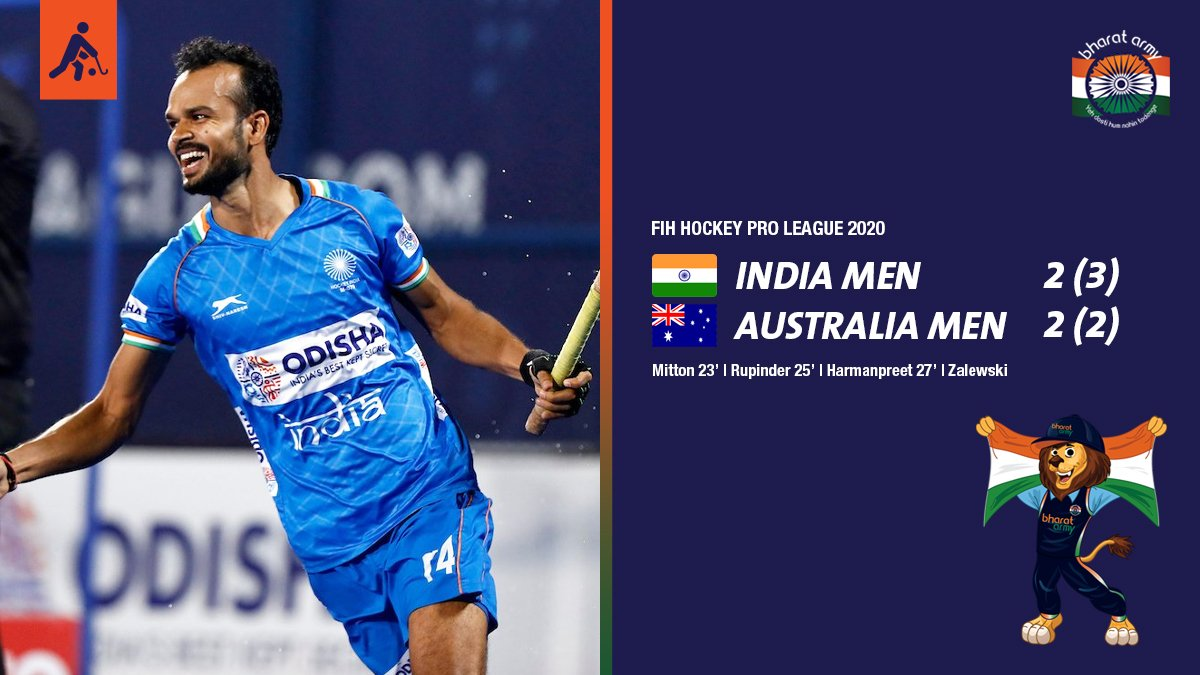 WON IN STYLE! #TeamIndia won yet another penalty shootout, this time around it was against the @Kookaburras to make a strong comeback after the loss yesterday. Well done lads  FIH   #hockey #IndiaKaGame #INDvAUS #FIHProLeague #IndiaInvites #dilsehockey #BharatArmy<br>http://pic.twitter.com/inSp6G4NWA
