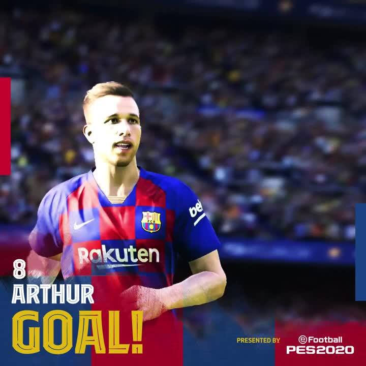 ⚽ GOOOOOOOOOOL DEL BARÇA!! GOOOOOOOOOOOL D' @arthurhromelo! (5-0, min. 90) #BarçaEibar