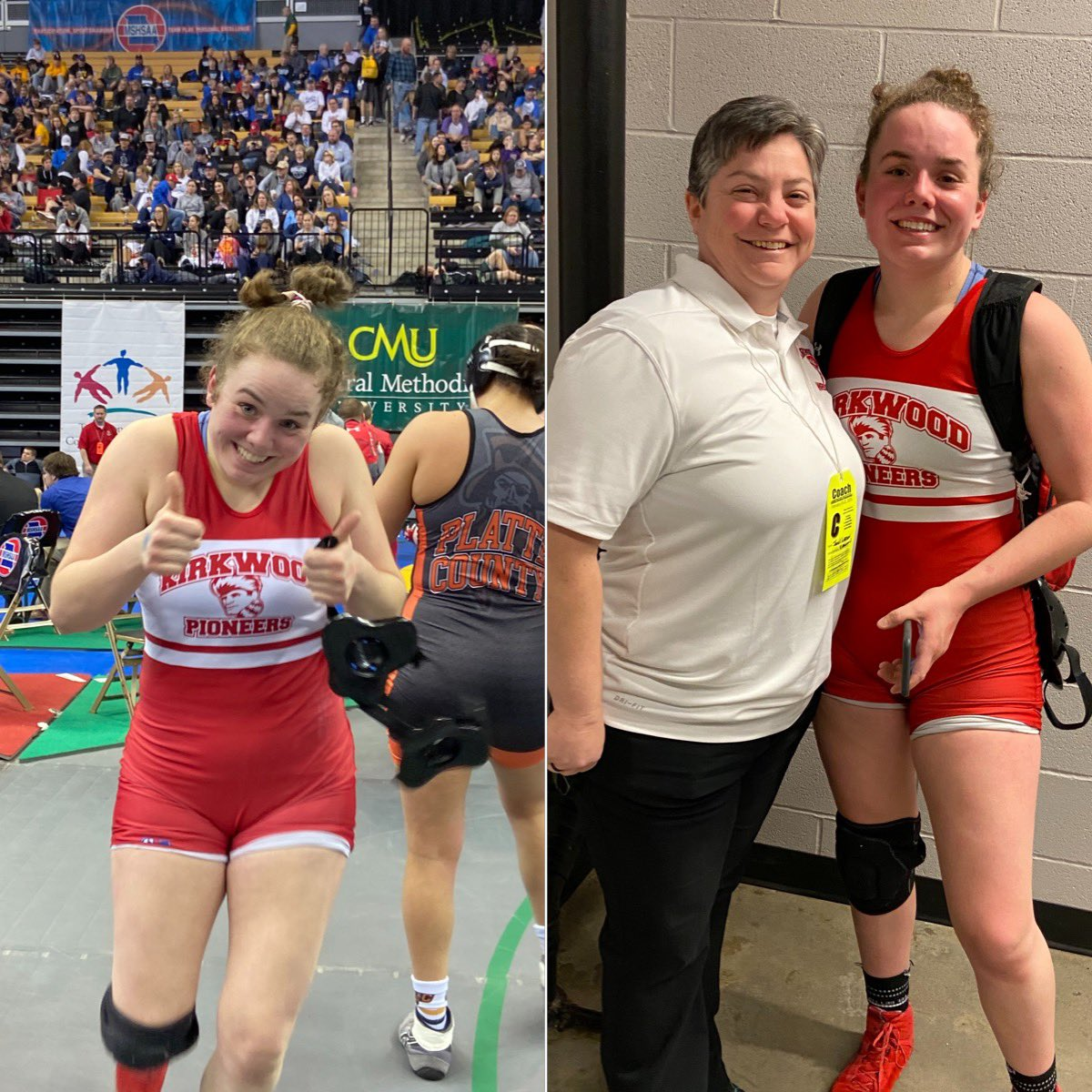 After a disappointing loss in the semifinals, Emma Schreiber bounces back to win by pin her next two matches and finishes in 3rd place!  Way to go, Emma! #HERstory #HERo #FIGHTpic.twitter.com/2a8zKmQl48