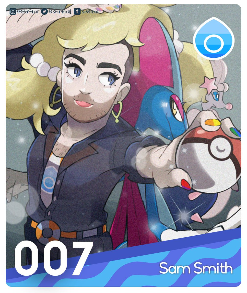 Watch out Nessa! there's a new water type boss in the town Sam Smith's league card 💙 Please help me tag Sam so maybe they can see it and i hope you guys like it #ToDieFor