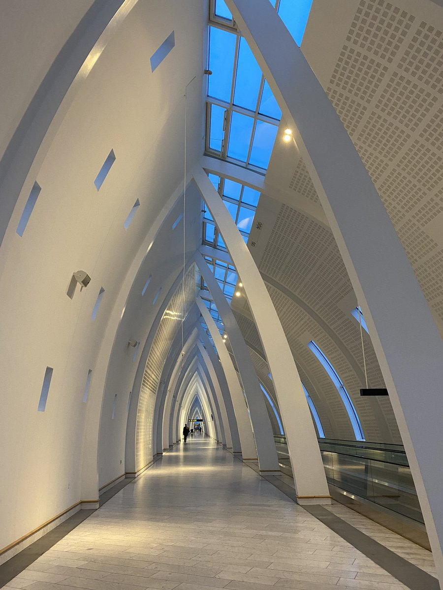 """Copenhagen Airport- fascinating and unconventional architecture with """"new Nordic functionalism"""". Thanks to Danielsen Architecture pic.twitter.com/eACgnpiIqR"""