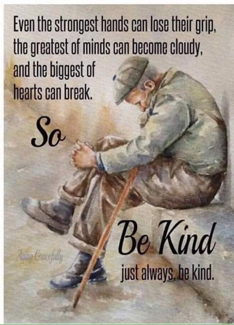 Please re-Tweet if you agree: #Kindness matters. Always.  (image by @Valacox via @Florencehhogan2) #Alzheimers #dementia #mentalhealth #aging