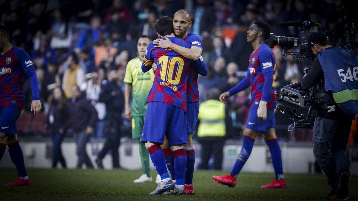 ⚡️Quin debut de @MartinBraith! Ha estat clau en els últims dos gols blaugrana. #BarçaEibar