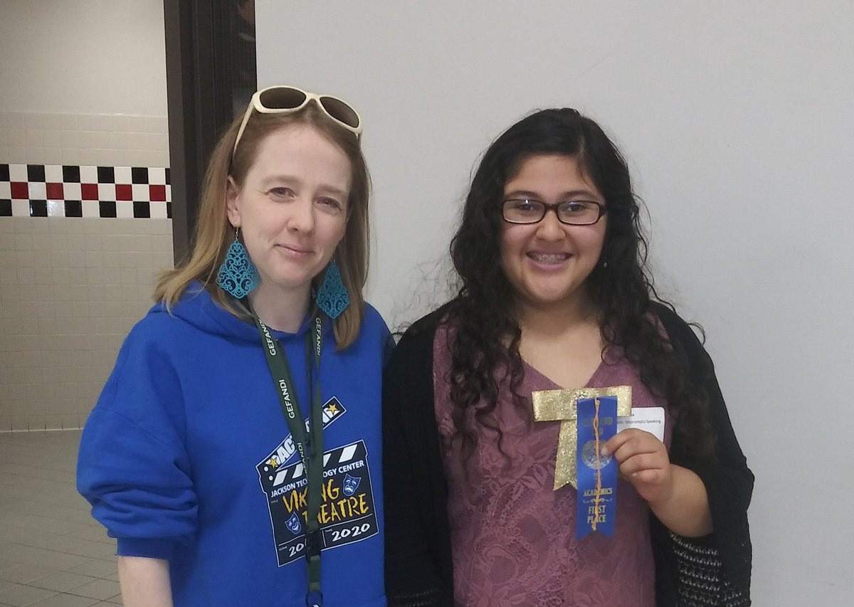 Congrats to Tania Ortiz who took 1st place in Impromptu Speaking at the A+ UIL event today. So proud of her.  #JTC #gisdarts