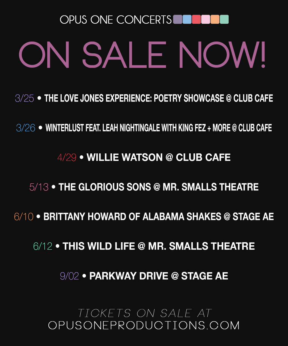 Check out what just went on sale at @ClubCafeLive, @MrSmallsTheatre, & @Stage_AE!