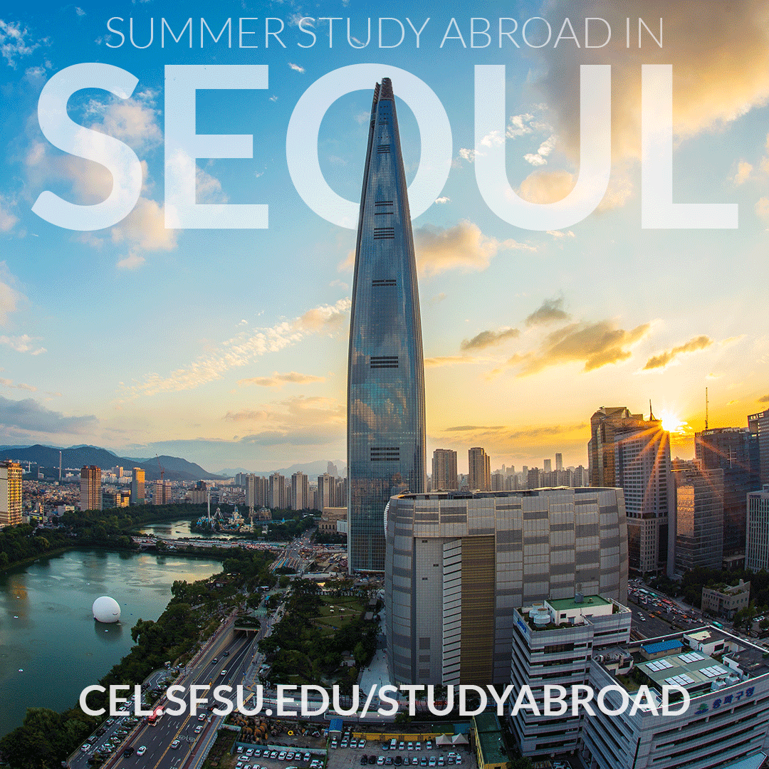 #StudyAbroad at Soongsil University International Summer School in Seoul:   ❍ Communication & Media  ❍ Business & Economics  ❍ Engineering  ❍ Korean Studies & Language   Apply by April 1.   https://cel.sfsu.edu/studyabroad/partner …pic.twitter.com/jQPsLRhxmy
