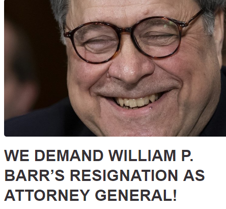 BILL BARR is nothing more than a CORRUPT MOTHERFVCKER and a THREAT TO DEMOCRACY!