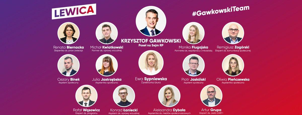 #GawkowskiTeam w pełnym składzie! Ludzie z pasją i wiarą w lepszą Polskę #Gawkowski #Lewicapic.twitter.com/dVqrnTeLrK