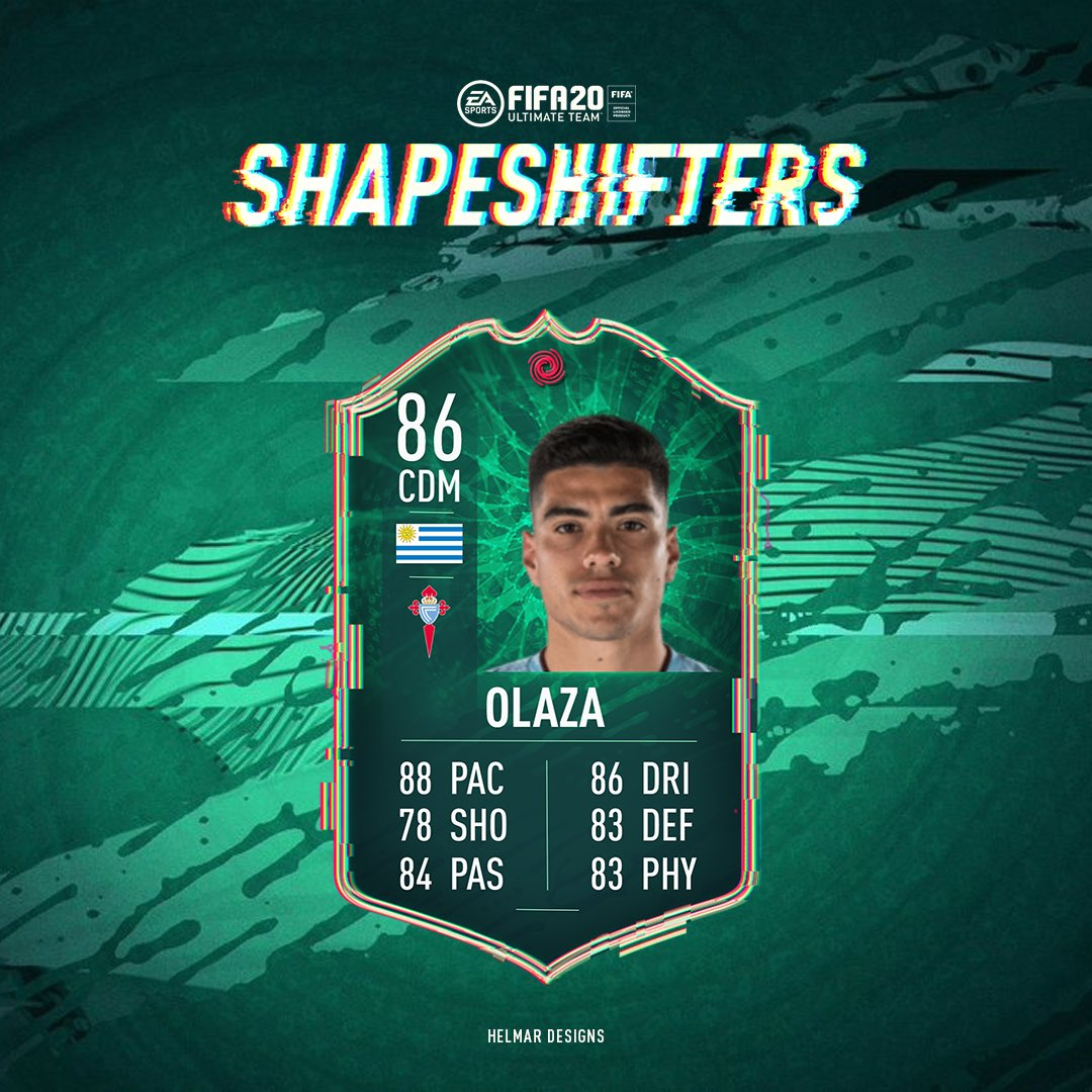 A #ShapeShifters Lucas Olaza SBC has been released - Available for the next 4 days 🇺🇾 #FIFA20