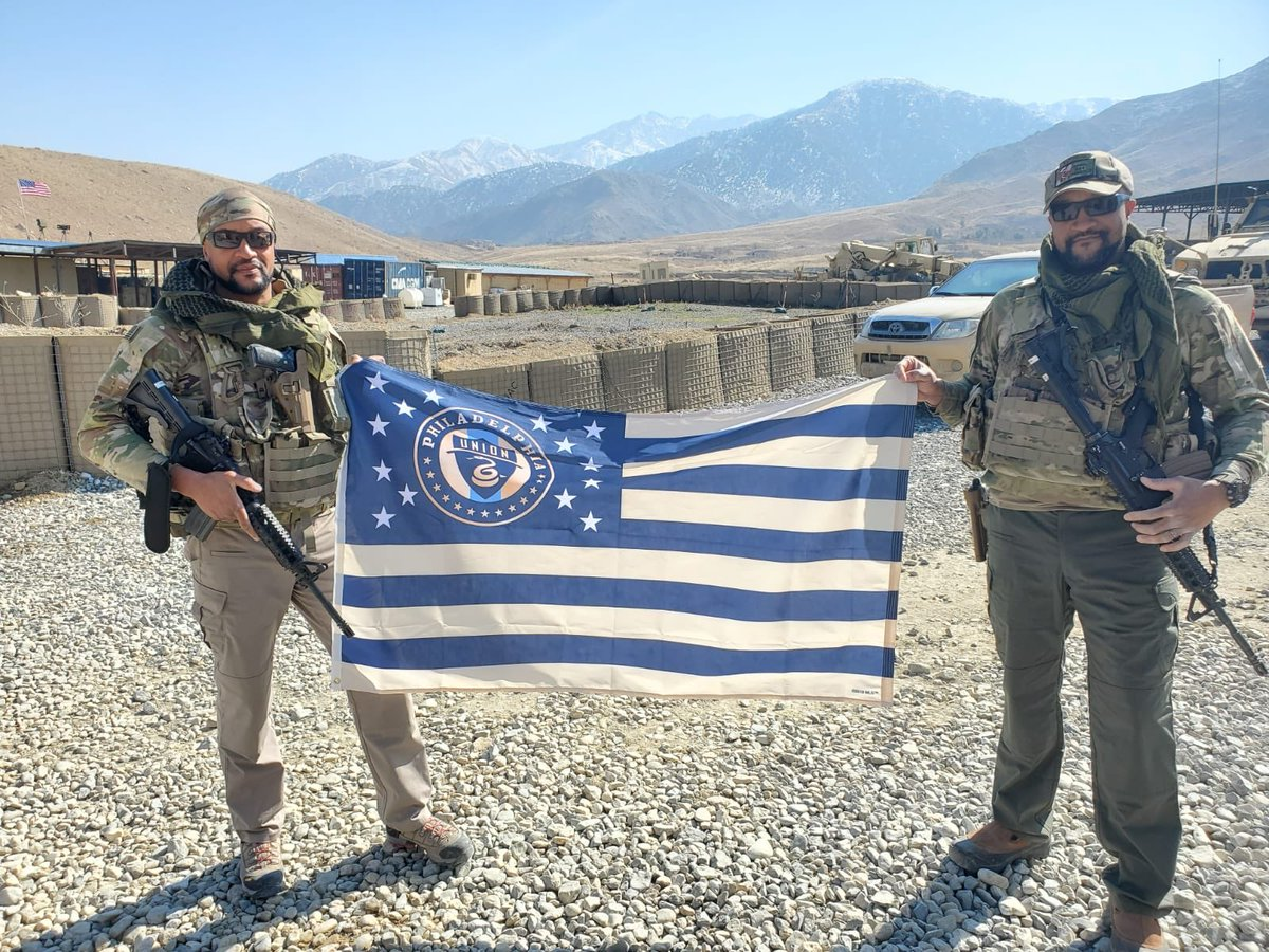 All the way from Afghanistan waiting for the season to start. @PhilaUnion