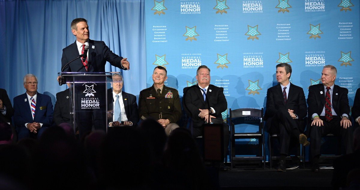 The Charles H. Coolidge National Medal of Honor Heritage Center pays tribute to the exemplary soldiers & extraordinary Americans who have earned our nations highest military honor, including 32 Tennesseans. Proud to be in Chattanooga for this special day.