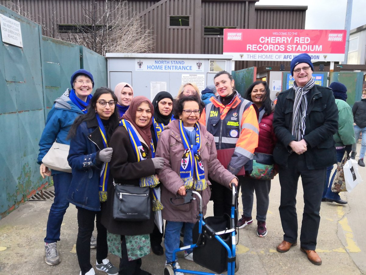 What a soul inspiring day Fantastic hosts @AFCWimbledon @TheDonsTrust held their 'women at the game' event inviting our @WeAreTheFSA #fansfordiversity @FootballGrf @NLVMalc ladies to experience their first ever football match, check the pics on how you think it went...#football<br>http://pic.twitter.com/0sApVS8Fmh
