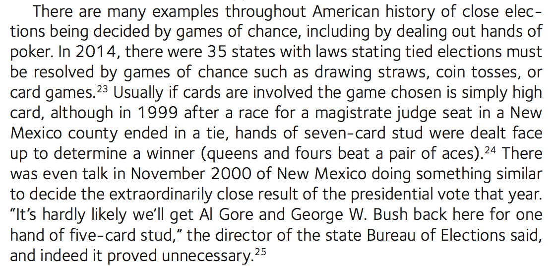 More on games of chance used in U.S. elections (from 'Poker & Pop Culture'):