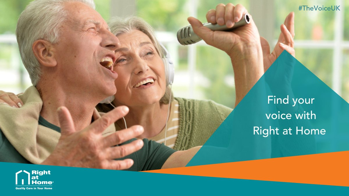 Are you struggling to find your voice when it comes to #homecare? You'll want to turn your chair for this one: Right at Home's highly trained #CareGivers can help you to complete everyday tasks that may have become difficult to manage. Call us today to find out more #thevoiceuk