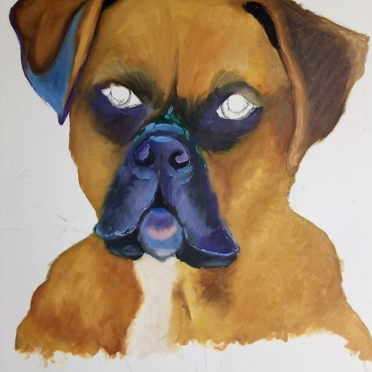 #Doglover  Work In progress  Oil paint on canvas <br>http://pic.twitter.com/l0wcoZ9pEH