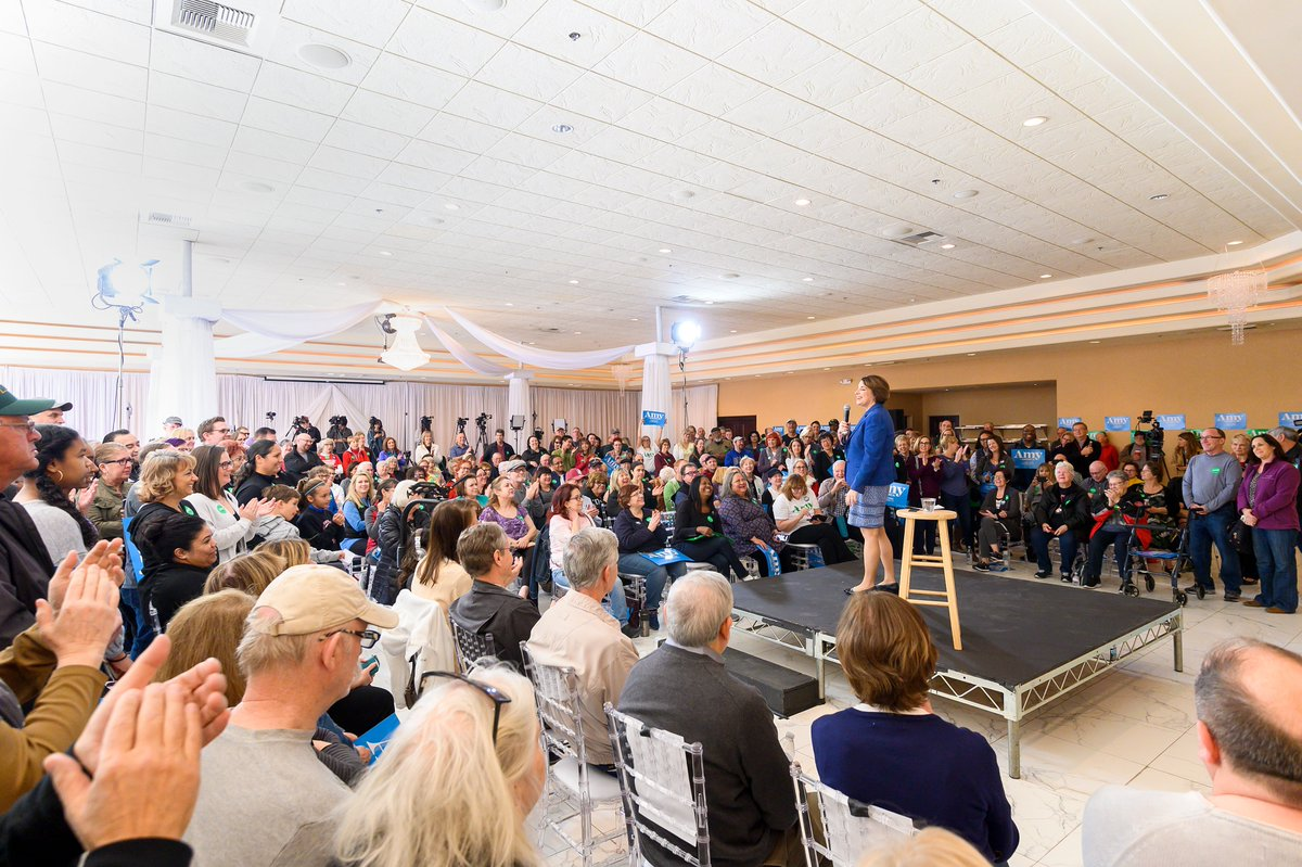 Today is caucus day, Nevada! We can defeat Donald Trump, and I need your support today! Find your caucus location and stand in our corner! amyklobuchar.com/nevada/