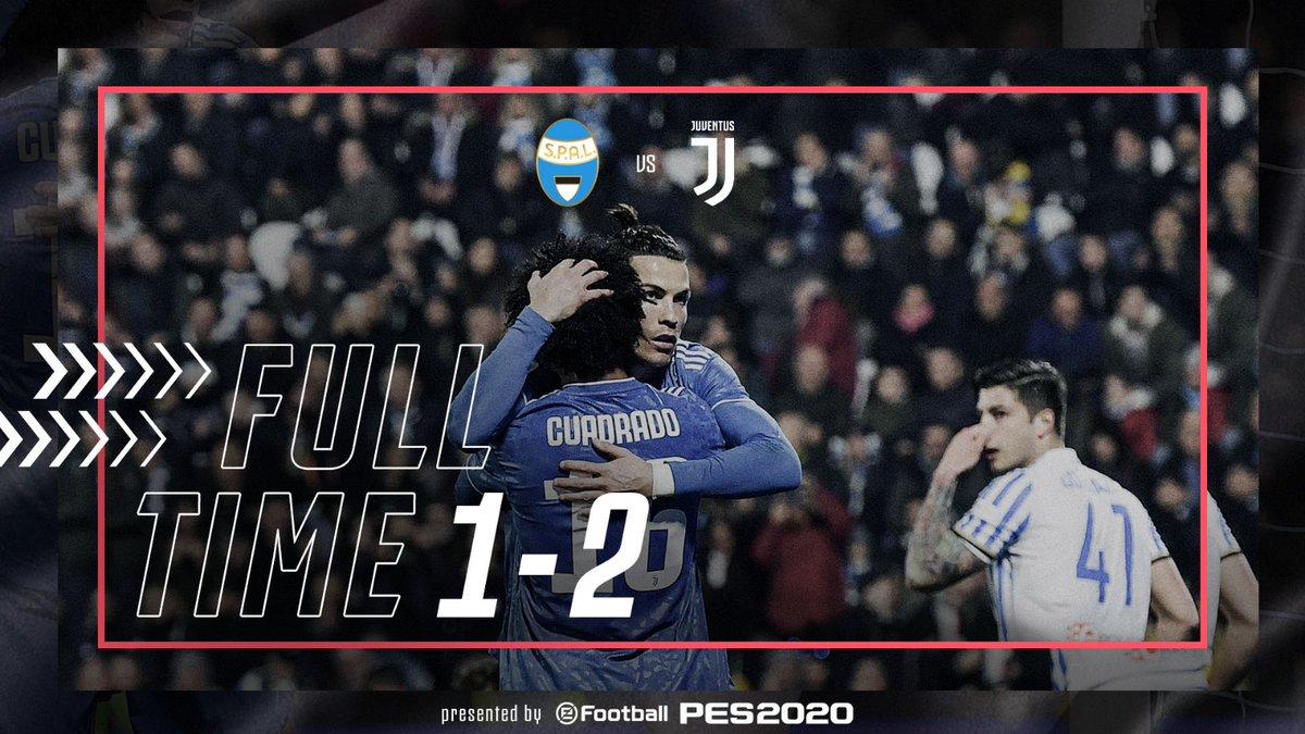 FT | ⏱ | FINISCE QUI! Vittoria per i bianconeri contro la @spalferrara.   Decisivi i gol di @Cristiano e @aaronramsey 👍  #SPALJuve