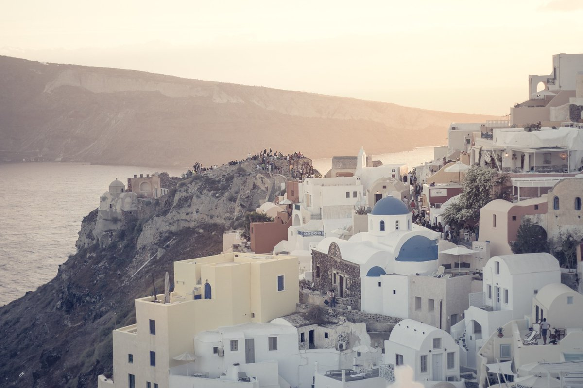 Greek Island Santorini Sunset And Its Beautiful Colors Magnificent view and Landscape Greece I wish you a pleasant weekend my dear friends  <br>http://pic.twitter.com/pYKnS6pp1W
