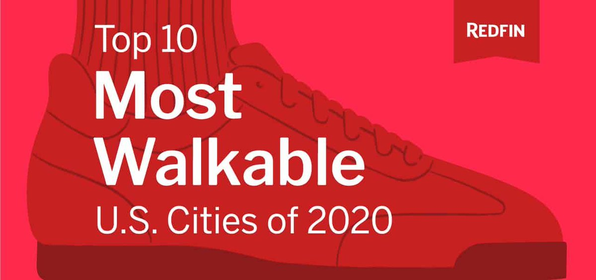 Redfin Unveils the Most Walkable U.S. Cities of 2020 https://buff.ly/3bx0NCupic.twitter.com/E70v2E1AZ8