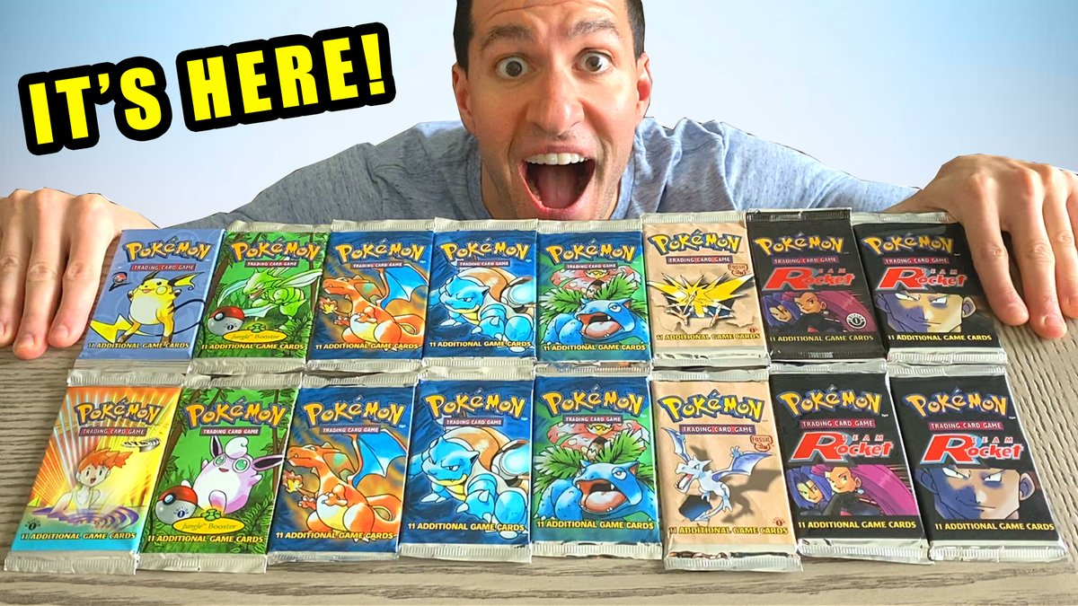 $1500 VINTAGE Pokemon Cards Opening! youtube.com/watch?v=Na55l2…