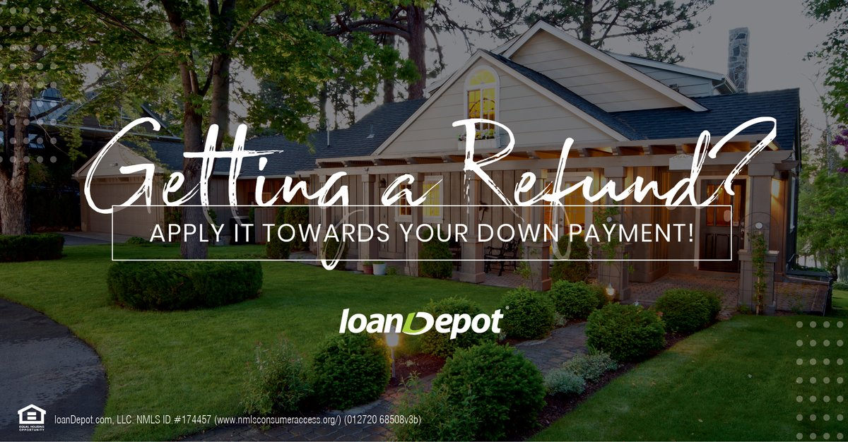 It's easy to spend your extra money on impulsive purchases, but if you're still renting, it might be a good idea to consider the benefit of using your tax refund towards a long-term investment such as a home. https://www.loandepot.com/smerkendorfer pic.twitter.com/WkjVaAsHvn