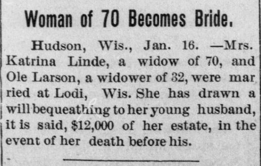 Never too late for love! (1907) #ChronAm http://ow.ly/fR6q50yamxk #Wisconsin #WisconsinNews #WisconsinHistorypic.twitter.com/IZcjjxWF3o