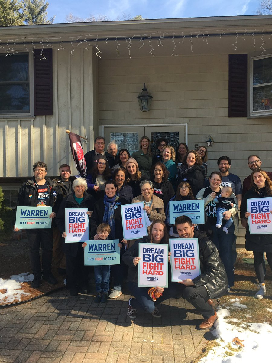 Andover is ready to #DreamBigFightHard and elect @ewarren the next President of the United States!
